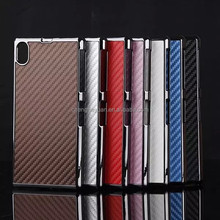 fashion Carbon Fiber Plating PC Hard phone case cover for sony xperia z1