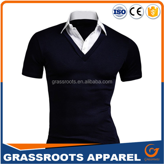 new style polo t-shirt custom polo t shirt men's cotton golf polo shirt t-shirts two color combination 2017