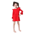 New Model Hand Work Short Frock Girls Red Festival Dress