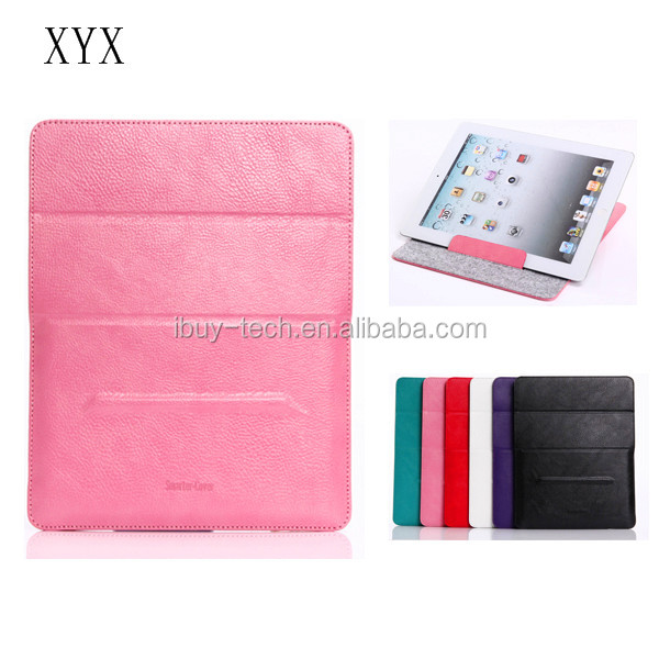 Simple design for ipad leather case wholesale tablet case for ipad folio leather stand for ipad air 2 flip cover