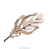 OUXI custom china wholesale rhinestone korean brooch pin 60107-2
