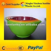 4 pcs bowl set/plastic bowl set/4pcs melamine salad mixing bowl