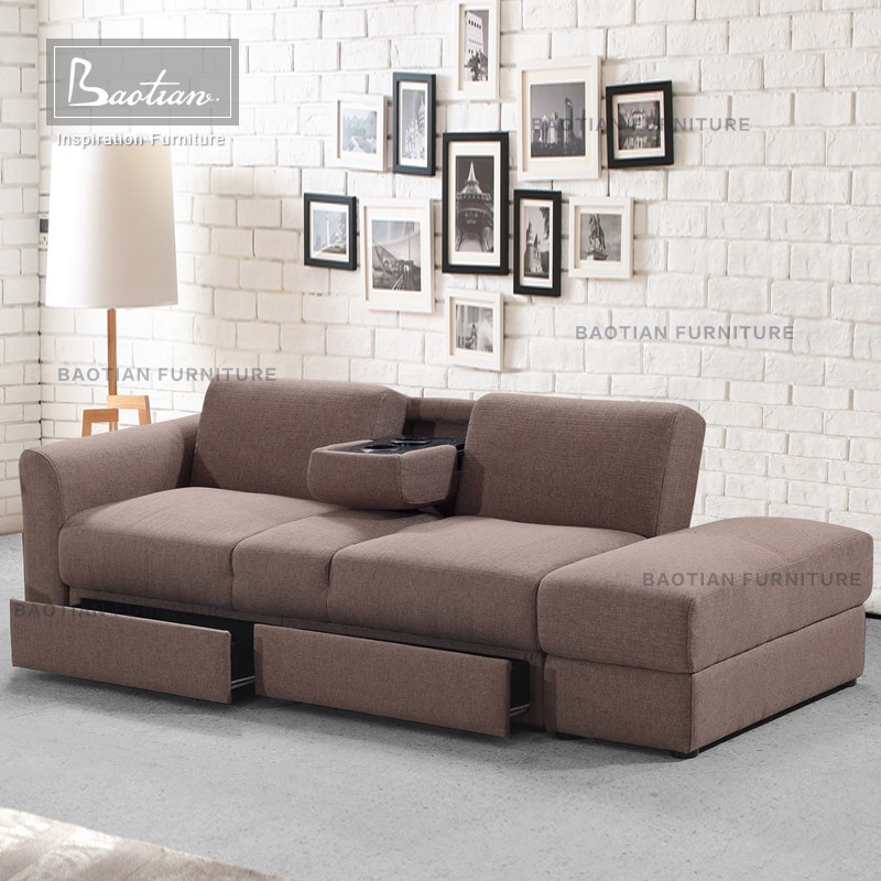 Best Revieweds - Grey Fabric Storable Sofa Bed