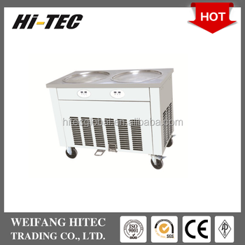 Double Pan HTC-2DA Fried Roll Ice Cream Machine