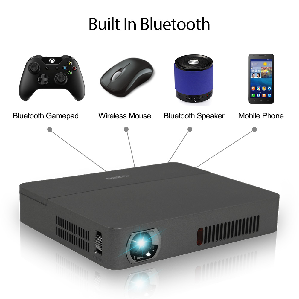 New wifi Android bluetooth 4k handy mini DLP projector