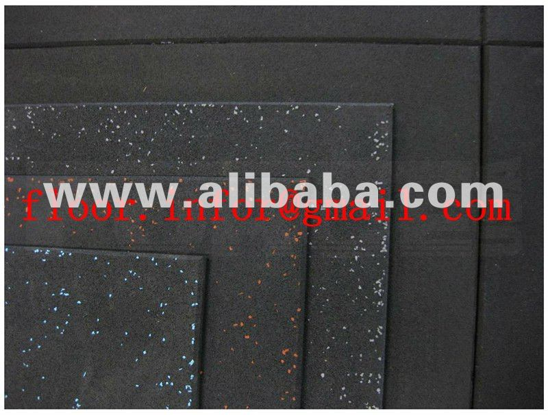 Fitness center rubber mat with EPDM dots