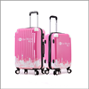 wholesale pc material colorful print lightweight sky travel president luggage bag
