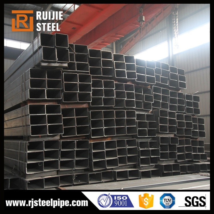 erw steel welded square pipe rectangular steel hollow section sizes mild steel hollow pipe