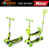 3 in 1 mini kick scooter with basket and adjustable height