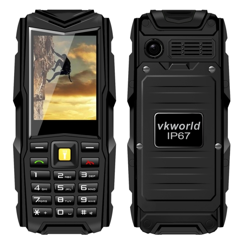 Hot brand VKWorld Stone V3 Smart Phone,5200mAh Battery, Waterproof / Dropproof / Dustproof, 2.4 inch Dual SIM(Black)
