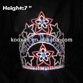 Wholesale Pageant patriotic Crowns for indenpendence day 4th Of July