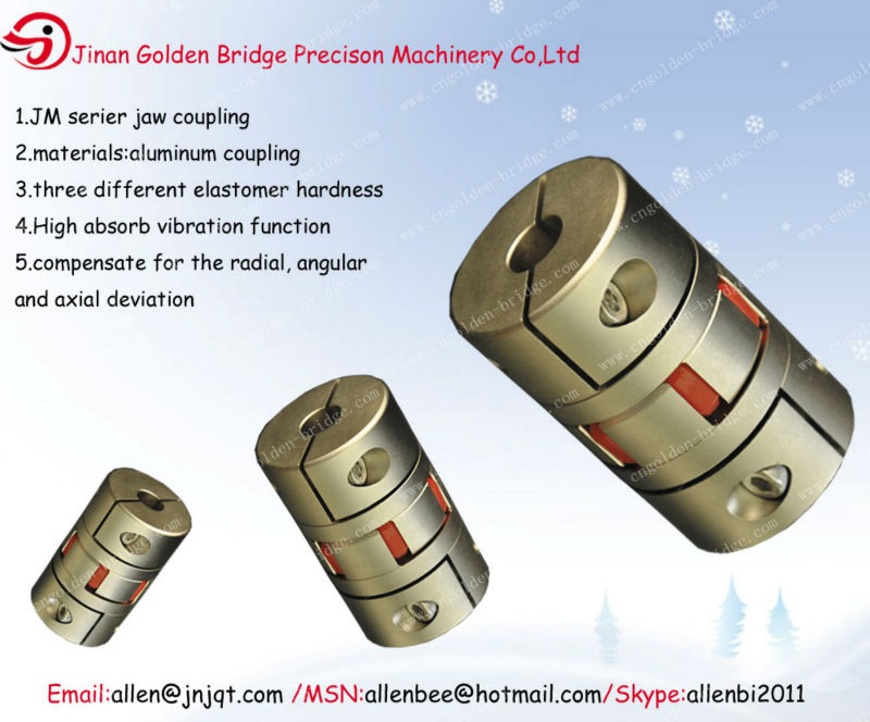 JM types of motor couplings for cnc machine