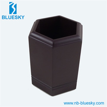 Office stationery leather desk pen container