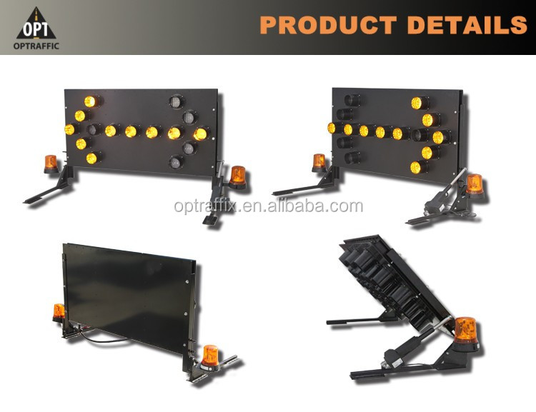 OEM LED Sign Arrow 15 Lamps Car Mounted Traffic Boards Safety Truck Mounted LED Arrow Board