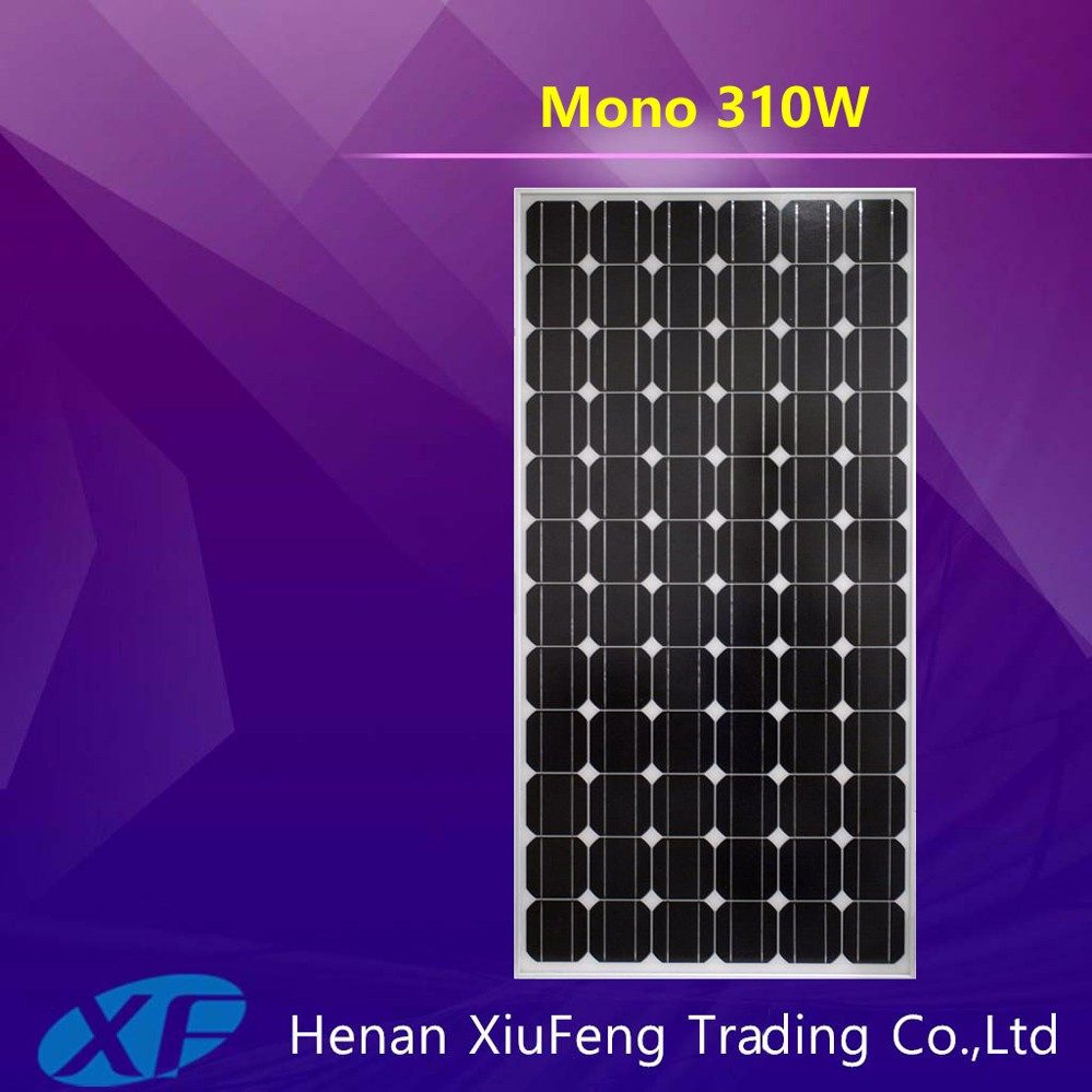 high quality Black 4BB 300W 48V Monocrystalline Solar Panel with TUV CE certification for Nepal