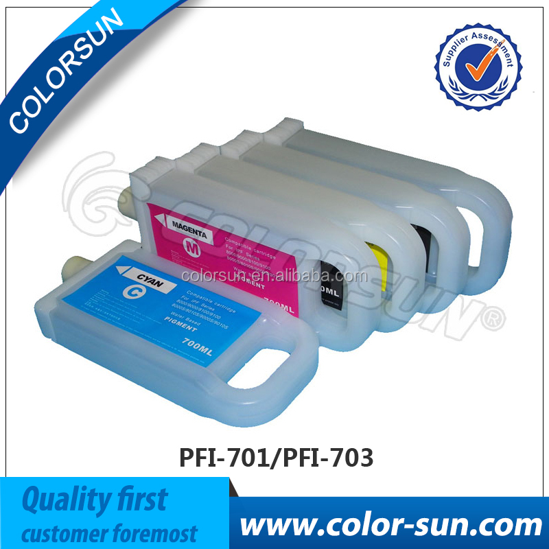 High quality PFI701 for Canon refill ink cartridge 101/102/103/105