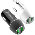 phone charger,QC3.0 dual port car charger,christmas gift for children QC3.0