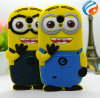 Cartoon Despicable me Minions 3D silicone Case For Samsung Galaxy s4 mini i9190