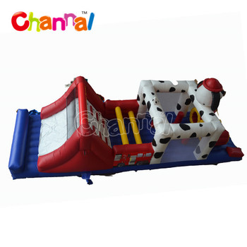 Dalmatian indoor playground obstacle course Inflatable Obstacle Course for sale