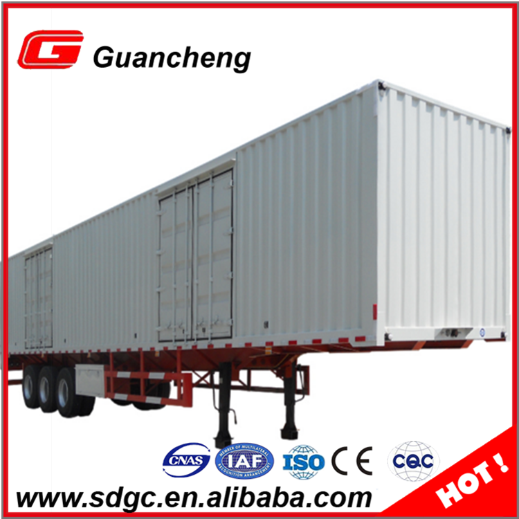 Best price cargo trailer strong box utility trailer van type semi trailer made in China