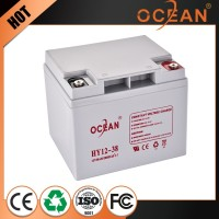 12V 38ah wholesale good quality latest solar energy storage battery