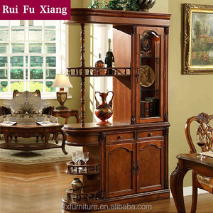 Rubber wood wine display cabinet, liquor cabinet, partition cabinet V-202