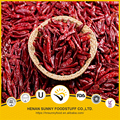 Dehydrated red chilli pods and stem natural red color