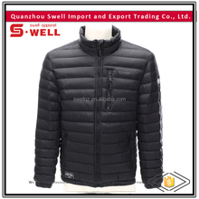 black stylish design winter mens quilted hoody sample winter jacket