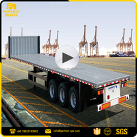 SCB9400TPB Flatbed Semi Trailer Schmitz Car