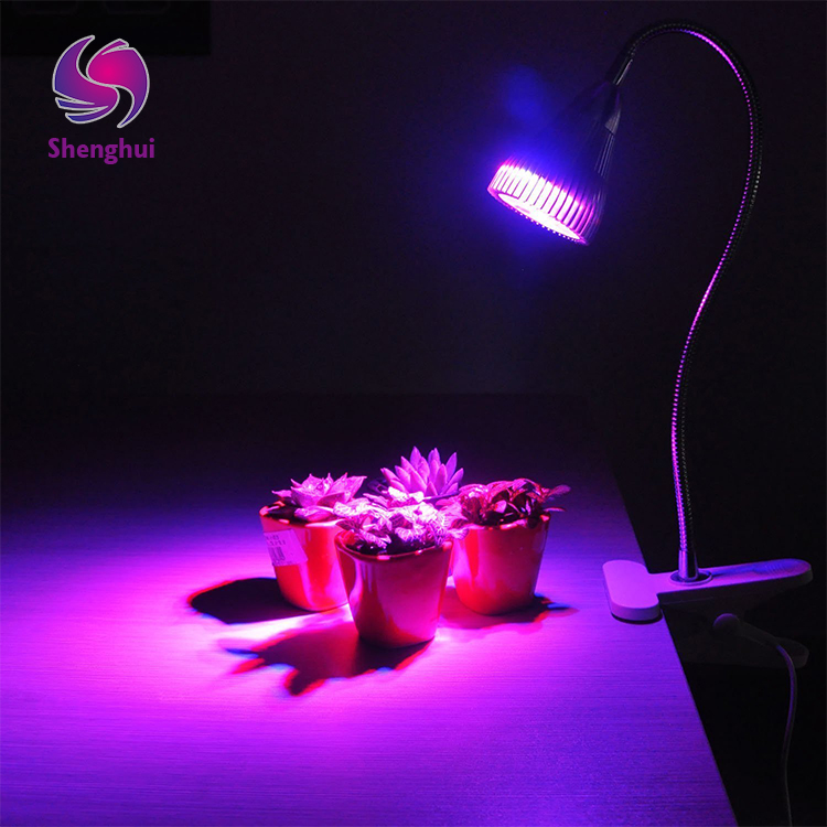 5W Desk Clip Plant Grow Light with 360 Flexible Gooseneck for Indoor Plants Hydroponics Greenhouse Gardening light