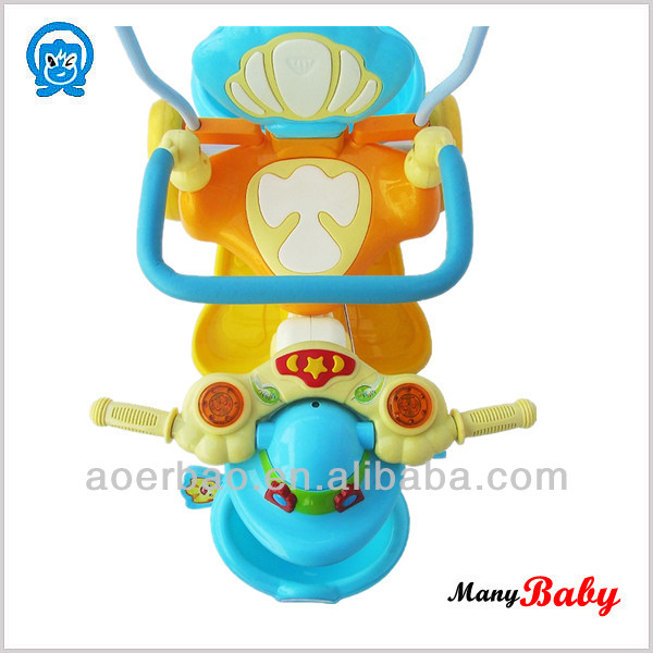 Mom and Baby favoirate baby carrier tricycle/ baby tricycle bike with parent handle factory