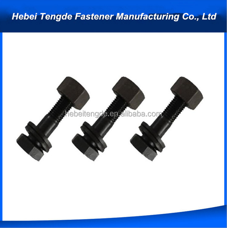 China Supplier Fastener DIN931 Carbon Steel Black Hex Head Bolts With Nuts and Washers