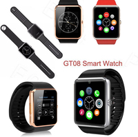 2016 Watch phone GT08 Smart Watch mobile Phone SIM Card Camera for Android Bluetooth smart watch for samsung for iphone 6
