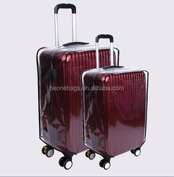 Professional custom pvc transparent luggage cover