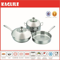 5pcs vintage stainless steel cookware set as seen on tv 15K-SP01