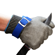 Stainless Steel Wire Mesh Cut Resistant Butcher Gloves