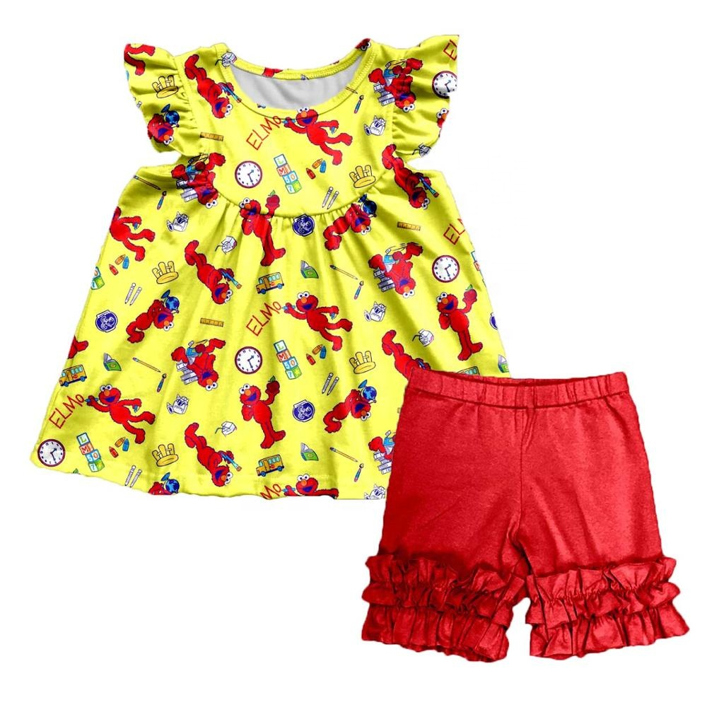 Baby clothes girls summer clothing set back to school wholesale children clothing set