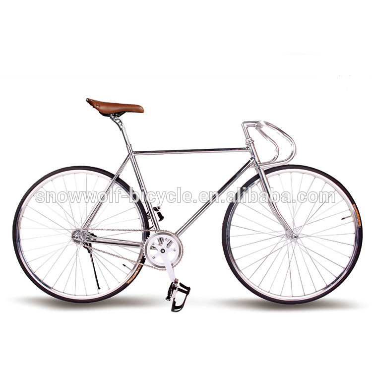 2016 steel Chromly fixed gear bicycle with single speed SW-700C-M0505