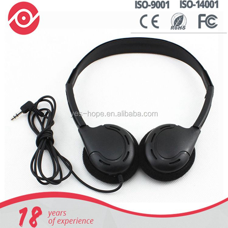 Disposable airline travel bus headphone headset earphone from Shenzhen factory