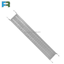Durable working platform scaffolding hook perforated steel plank used for construction