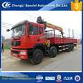 good performance 8x4 straight boom dongfeng truck with crane 18 ton price
