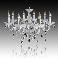 DY2101-8 silver color 8 lights crystal chandelier colored crystals for chandeliers