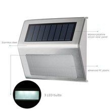 fast moving item Upgrated LED outdoor solar power stainless steel step stair light/security lighting/ path lamp with price