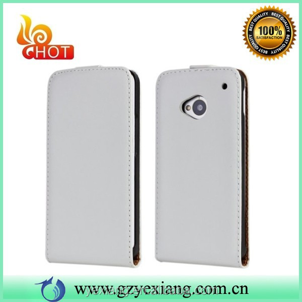 Factory Price Mobile Phone Magnet Flip Case For HTC One M7 Cover