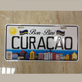 souvenir decorative embossed car aluminum plate metal curacao license plate