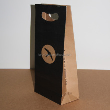 Brown kraft window paper takeaway bag
