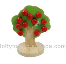 Apple tree magnetic wooden toy for kids