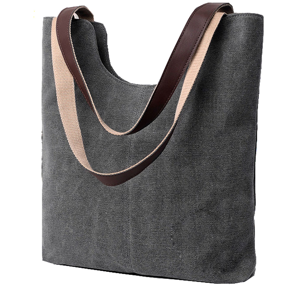 New Female handbag women large thicken canvas casual messenger bags bucket reusable pu sublimation standard size cotton tote bag