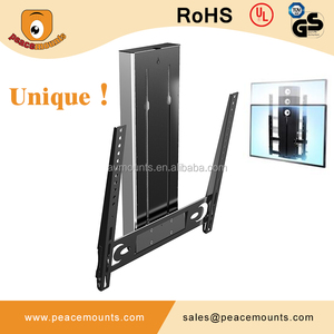 "Unique Design Lift Lower TV Wall Mount Bracket For 40""-60"" LCD Flat Panels"