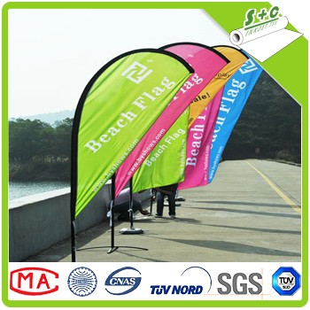 best price polyester knit 110gsm dye sublimation flag fabric